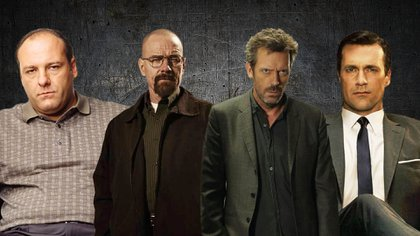 Don Draper (Mad Men), Walter White (Breaking Bad), Tony Soprano (Los Soprano) y Gregory House (Dr. House)