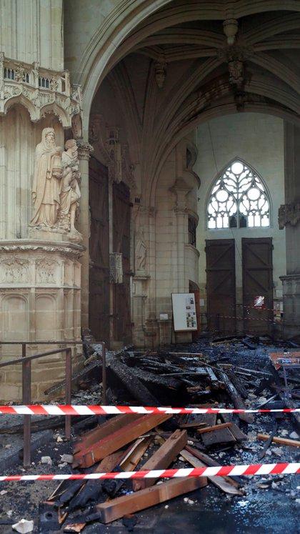 La destrucción causada por el incendio (Reuters)