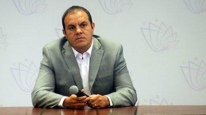 El gobernador de Morelos, Cuauhtémoc Blanco Bravo, hablóa sobre el inicio del proceso de vacunación contra el Covid-19 en el estado (FOTO: MARGARITO PÉREZ RETANA /CUARTOSCURO.COM)