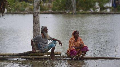 El paso del ciclón Fani en Bangladesh (AFP)