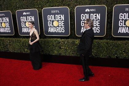 Joaquin Phoenix y Rooney Mara en los Globos de Oro en Beverly Hills, California, en enero de 2020. EFE/EPA/NINA PROMMER/Archivo