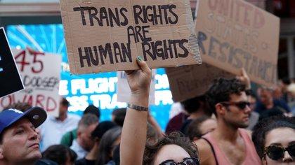Una protesta a favor de los derechos de los transgénero en Nueva York (Reuters)