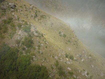 La visibilidad en la zona en la que cayó