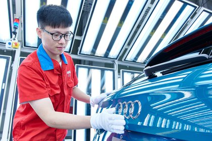 11/30/2019 Production of Audi cars in China.  AUDI ECONOMY POLICY
