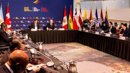 Reunión ministerial del Grupo de Lima celebrada en Ottawa (Canadá) en febrero de 2020. EFE/ Julio César Rivas/Archivo