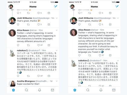 Twitter duplica el límite de 140 caracteres por cada tweet, al menos para algunas person
