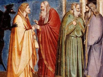 La Traición de Judas, de Giotto. Se encuentra en la Capilla de los Scrovegni, Padua, Italia