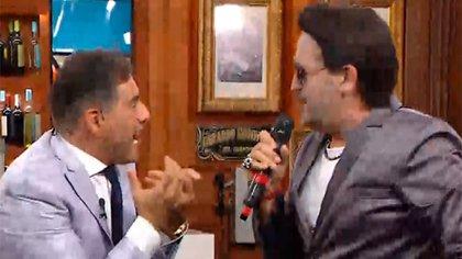 Iudica divertido junto a Albertito (Foto: Polémica en el bar)