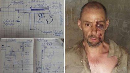 Martín Lanatta, sus diarios y el aspecto con el que fue capturado luego de la fuga
