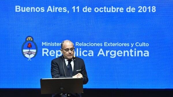 Faurie señaló que Argentina es una de las quince economías más cerradas del mundo.Adrián Escandar