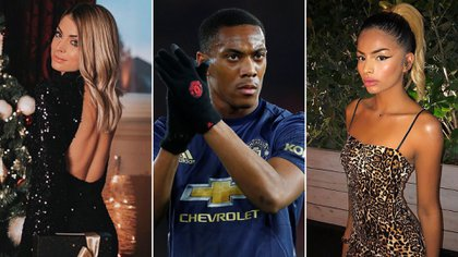 Anthony Martial, entre dos mujeres