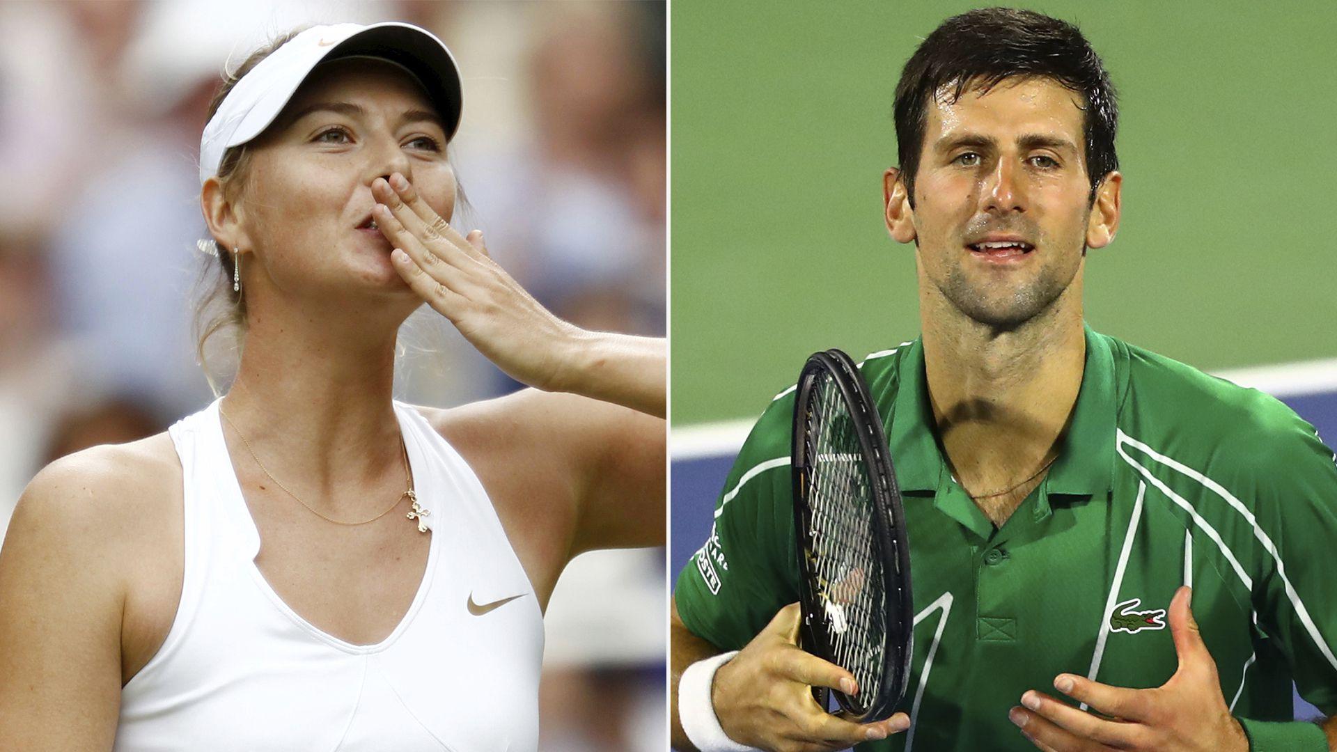 Maria Sharapova y Novak Djokovic hablaron a través de Instagram