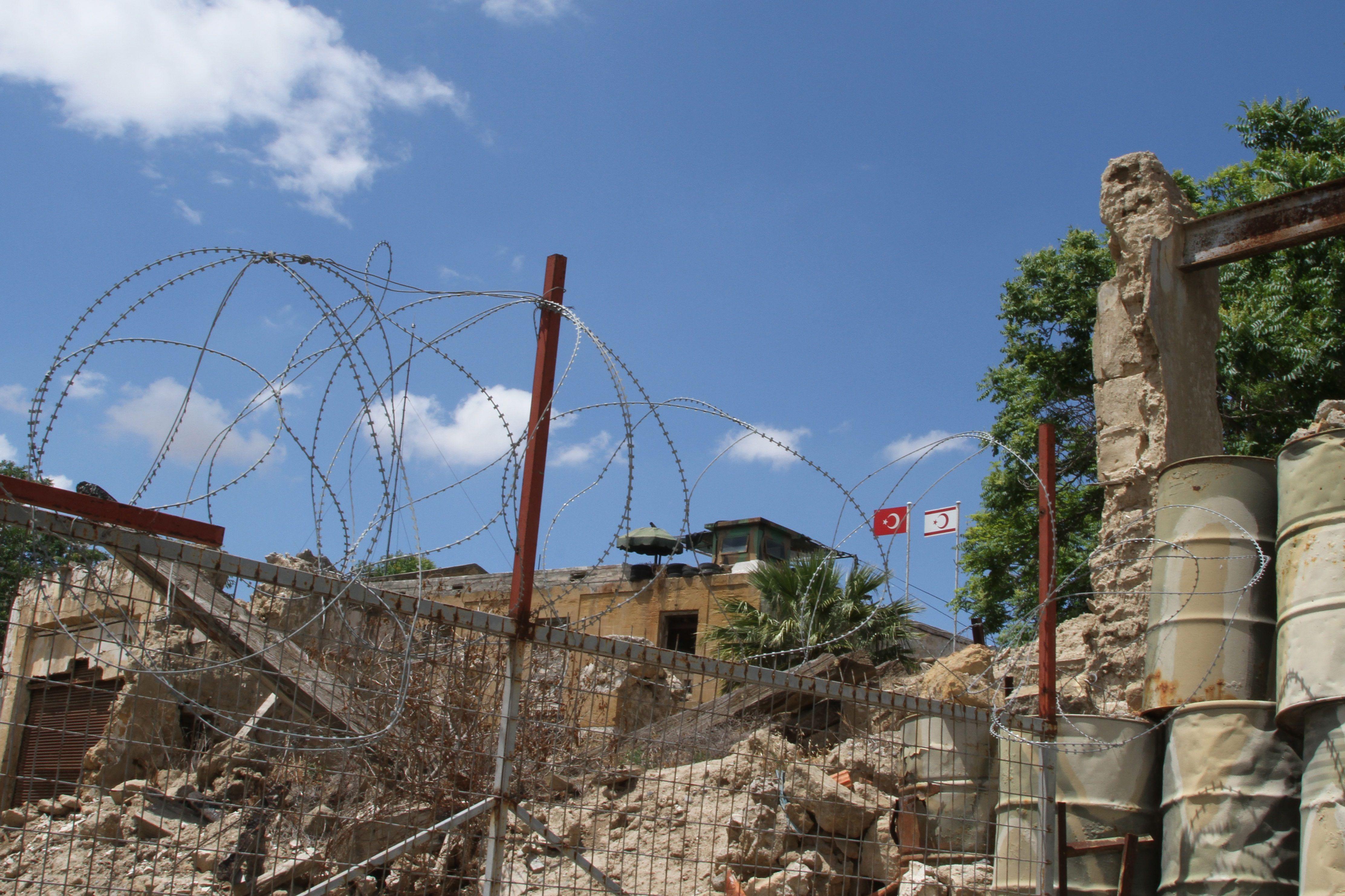 05/06/2016 La ligne verte qui sépare la République de Chypre de la République turque de Chypre du Nord POLITIQUE MOYEN-ORIENT ASIE CHYPRE DOMINIC DUDLEY / ZUMA PRESS / CONTACTOPHOTO