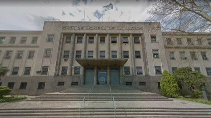 La fachada de la Casa de la Moneda, en Retiro (Google Street View)