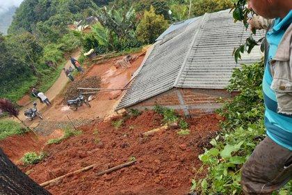 Deslizamientos en el departamento de Nariño a causa de las fuertes lluvias que se han registrado en el país. Foto: Gobernación de Nariño.