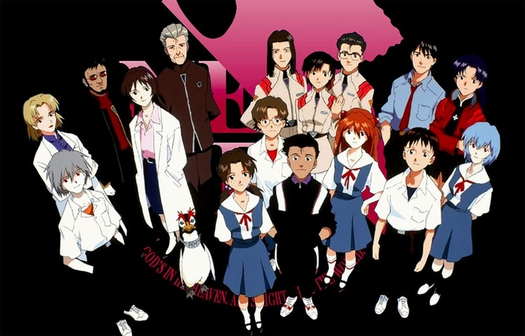 Los personajes de Evangelion