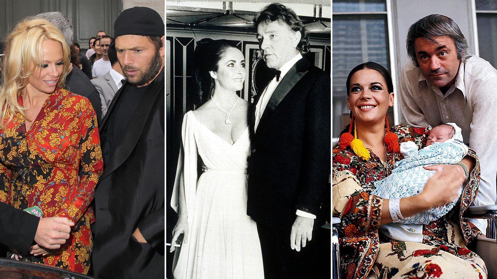 Pamela Anderson y Rick Salomon se casaron dos veces, igual que Liz Taylor con RIchard Burton y Natalie Wood con Robert Wagner