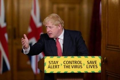 17/07/2020 Boris Johnson en una rueda de prensa sobre el coronavirus en Londres POLITICA INTERNACIONAL Andrew Parsons/No10 Downing Stre / DPA