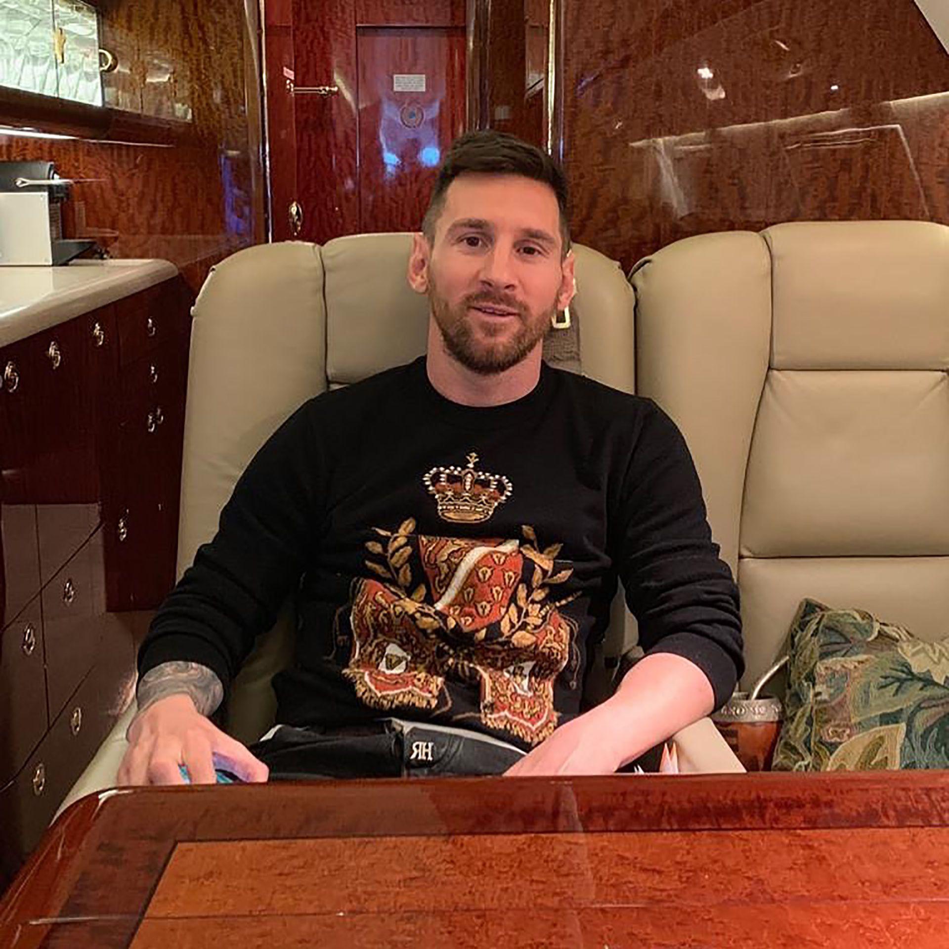 El rosarino suele usar la aeronave para sus viajes familiares