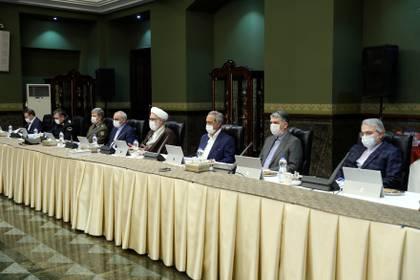 Conferencia de las autoridades iraníes (Reuters)