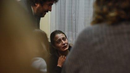 Mariana Gómez tras ser condenada a un año de prisión por resistencia a la autotidad, en 2019