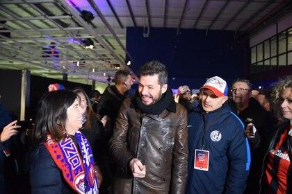 Marcelo Tinelli junto a la periodista María O´Donnell (Foto: Franco Fafasuli)