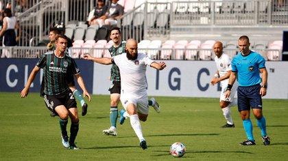 Gonzalo Higuain brilló con dos goles en la victoria del Inter de Miami frente a Cincinnati por la MLS