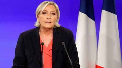 """Marine Le Pen destacó el """"resultado histórico"""" de su partido (REUTERS)"""