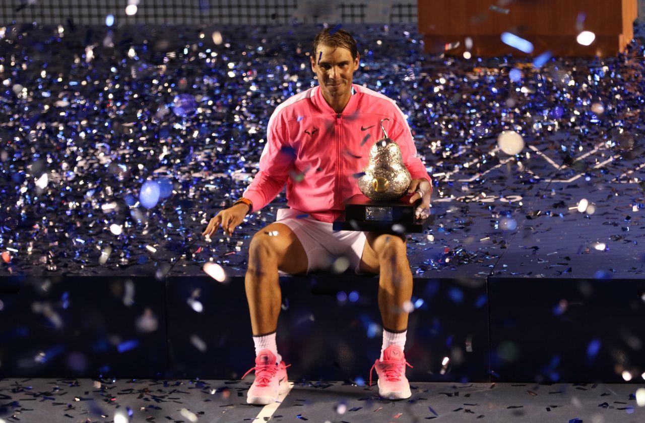 Rafael Nadal se coronó en febrero por tercera ocasión del Abierto Mexicano de Tenis al vencer al tenista estadunidense Taylor Fritz (FOTO: CARLOS ALBERTO CARBAJAL/CUARTOSCURO.CON)