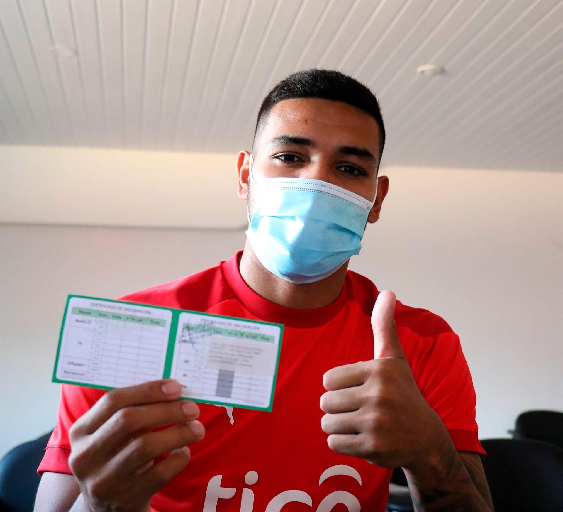 David Martínez vacunado