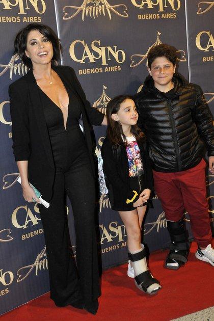 Pamela David y sus hijos