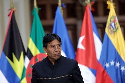 FOTO DE ARCHIVO. El ex ministro de Relaciones Exteriores de Bolivia, David Choquehuanca, asiste a una reunión del ALBA-TCP, en Caracas, Venezuela. 8 de agosto de 2017. REUTERS/Ueslei Marcelino.