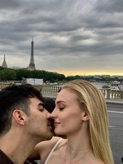 Joe Jonas y Sophie se casaron en Francia (Instagram)