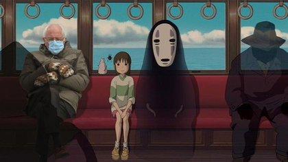 Bernie Sanders en una película de Studio Ghibli.