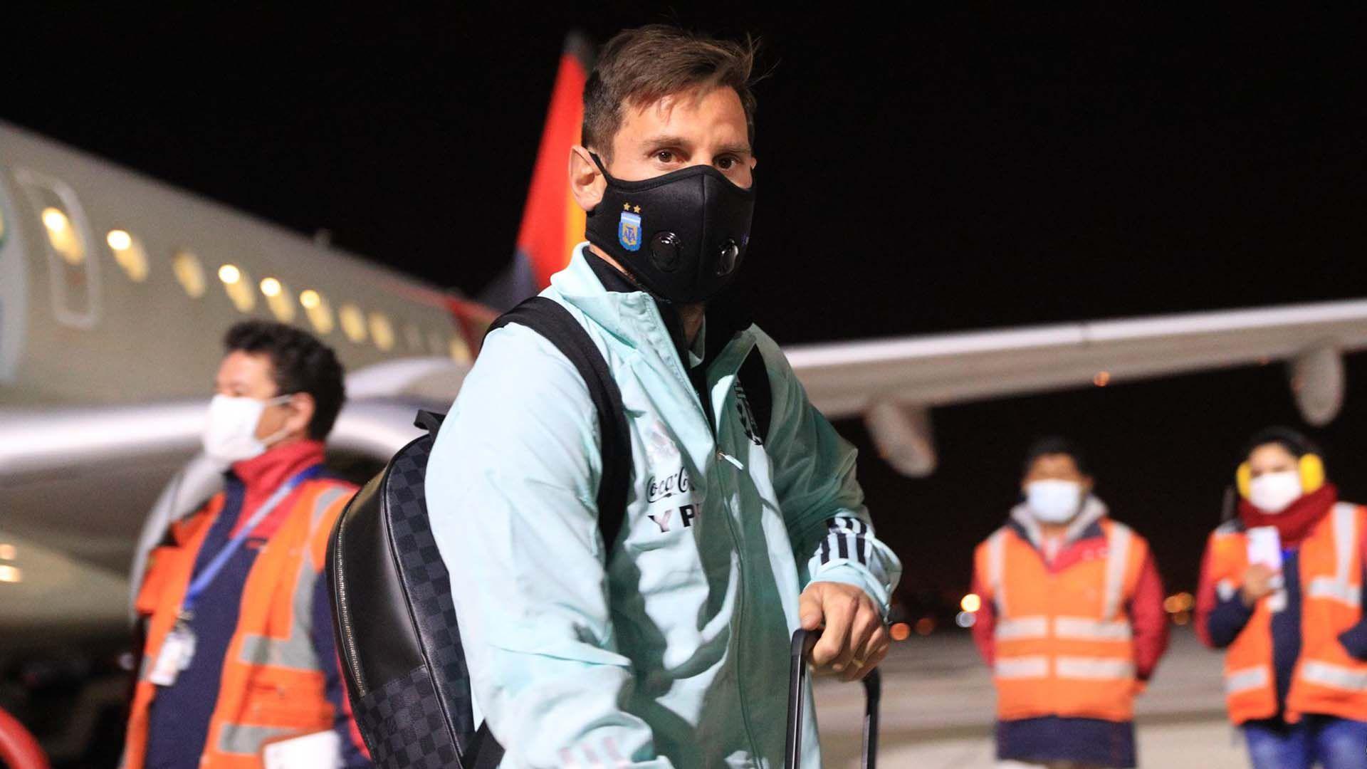 Llegada de la Selección a La Paz