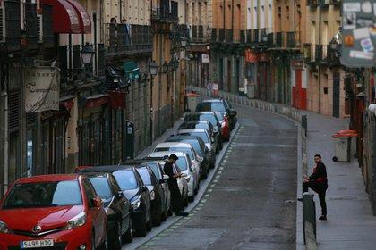 Las calles y el transporte público de Madrid, prácticamente vacíos (Facundo Pechervsky)