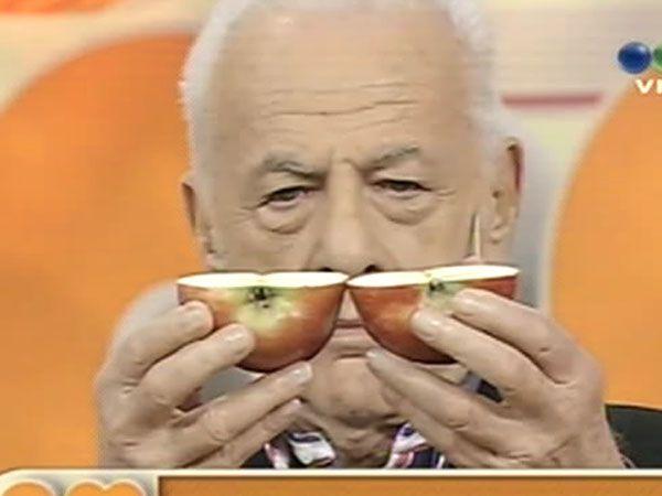 Gerardo Sofovich y su clásico corte de la manzana
