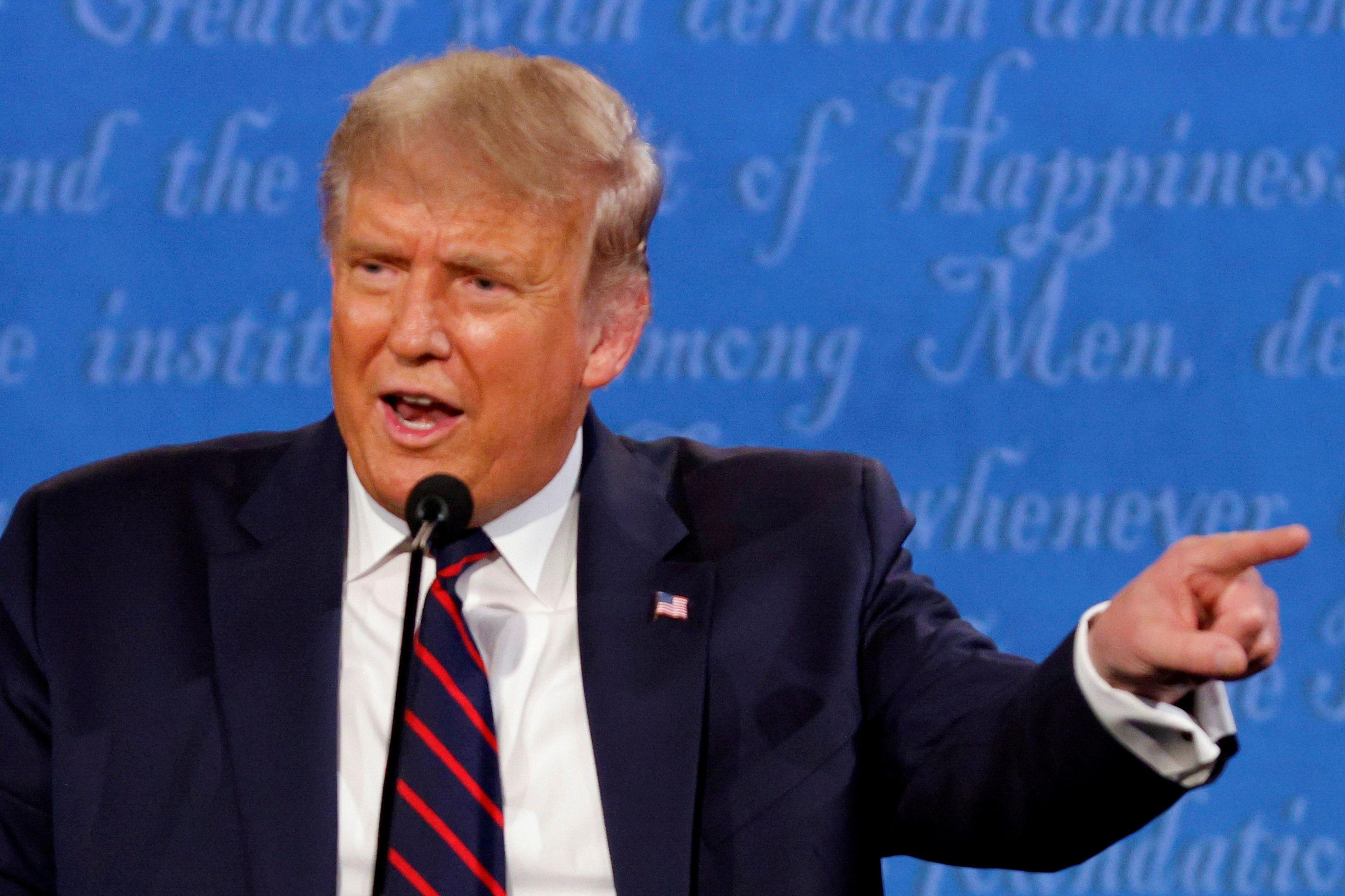 Donald Trump durante el primer debate presidencial. REUTERS/Brian Snyder/File Photo