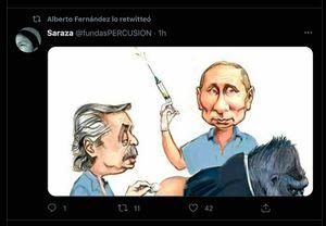 La caricatura que Alberto Fernández compartió en Twitter y luego borró