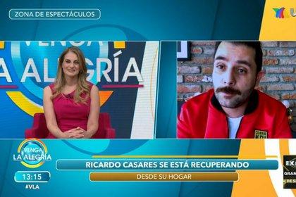 Ricardo Casares habló con Flor Rubio y Laura G sobre su salud (Captura de pantalla Venga la alegría)
