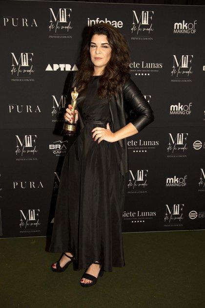 Bettina Frúmboli ganadora del MF de la moda en la categoría make up artist  (Adrián Escandar)