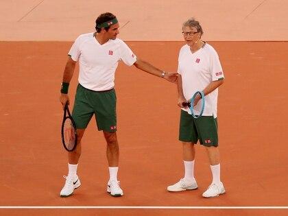 Gates hizo dupla con Federer en Ciudad del Cabo (REUTERS/Mike Hutchings)