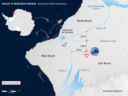 """""""En las próximas semanas o meses, el iceberg puede alejarse; o podría encallar y permanecer cerca de Brunt Ice Shelf"""", detalló la directora de BAS (Foto: Reuters)"""