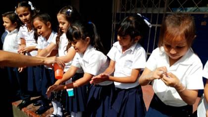 Niños de una escuela en Nicaragua
