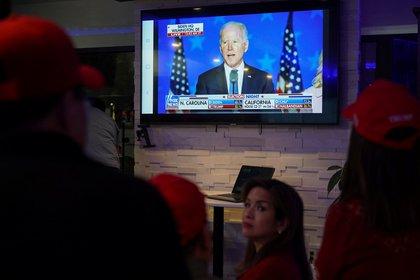 Seguidores de Biden en Houston, Texas (REUTERS/Go Nakamura)