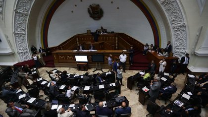 Vista general del hemiciclo de sesiones de la Asamblea Nacional