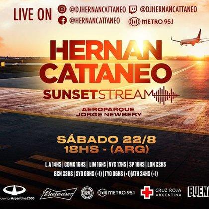 Hernán Cattáneo tocará en el Aeroparque en un show gratuito
