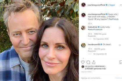 Los protagonistas de Friends tienen millones de fanáticos en las redes sociales