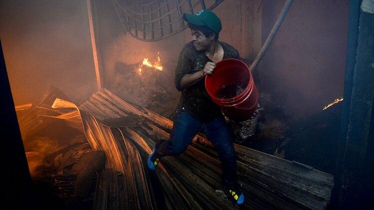 52a2ffdefb8f Un incendio destruyó un mercado entero en Guatemala - Infobae