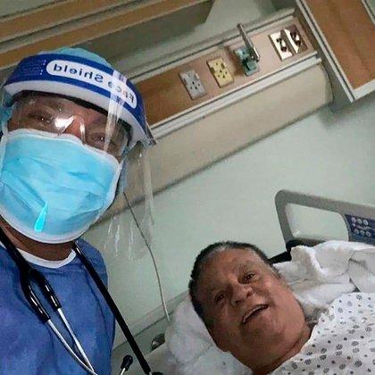 Roberto Duran en el hospital